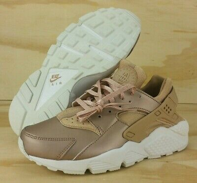 best service af3ef 09189 Nike Air Huarache Run PRM TXT Rose Gold Women s Running Shoes AA0523-202  Size 7