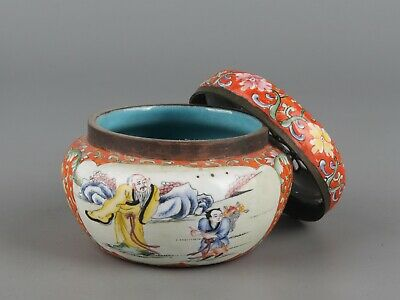 Chinese Exquisite Handmade the ancients copper Cloisonne incense burner