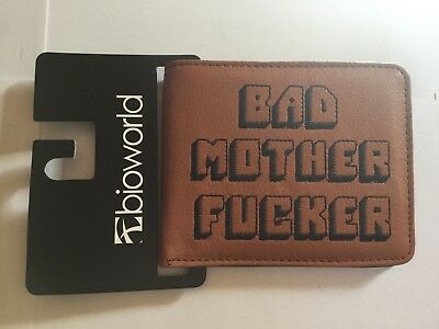 Bad Mother F*cker Leather Wallet Brown NWT