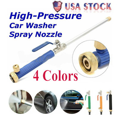 High Pressure Power Water Spray Nozzle Water Hose Wand Washer Wand w/Jet&Fan Tip