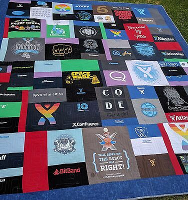 T-Shirt Memory quilt - handmade quilt - made to order OOAK heirloom Deposit only