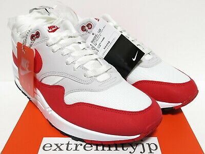 the latest eb1f7 fc962 DS 2017 NIKE AIR MAX 1 ANNIVERSARY white university red 908375-103 sz 9
