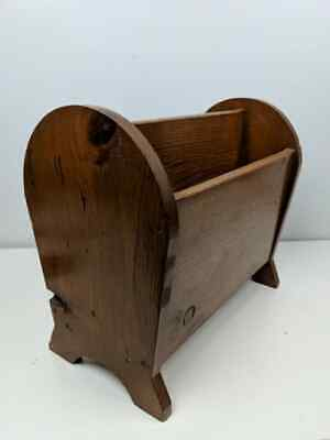 Colonial Dark Antiqued Double Sided Pine Old Tavern Magazine Rack