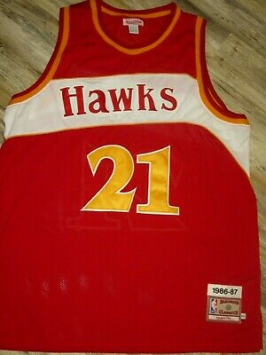 13cc7985ce2 Nba Throwback Jersey Mitchell   Ness 1986 1987 Throwback Atlanta Hawks  Basketbal