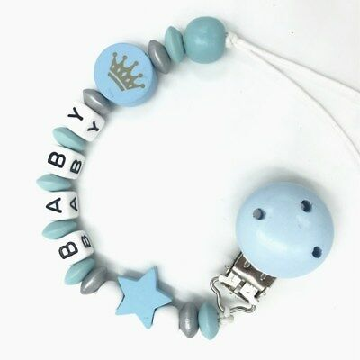 DIY Pacifier Chain dummy Holder Clip Baby Feeding Teether Pacifiers Clip Blue
