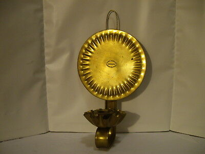 Vintage Solid Brass Wall Candle Holder Sovereign Hill Ballarat Clarke Brothers