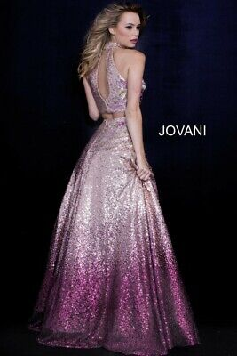 Jovani STyle 54471 size 10 Violeta in color Prom Pageant gown NWT!