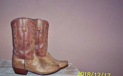 Luchese Smooth Ostrich Cowboy Boots, Style# A1025,  Size (10 1/2 2E)