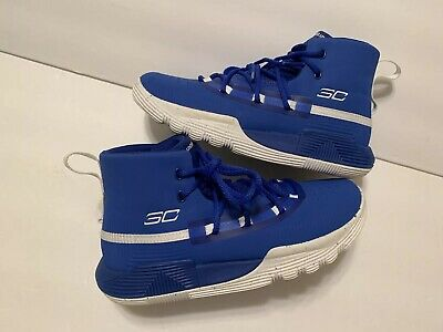 steph curry shoes blue and white