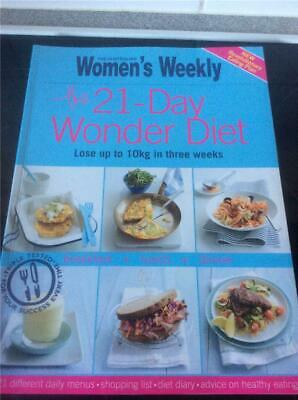 Australian Womens Weekly Cookbook Cooking,  21 Day Wonder Diet , Recipes