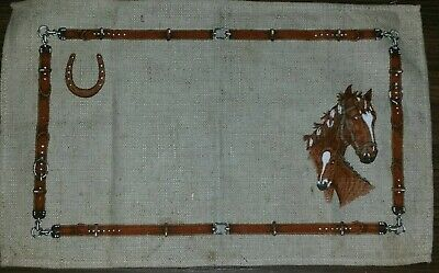 VINTAGE Placemat/Doily etc Horse and Horseshoe 46cm x 29cm Made in Poland