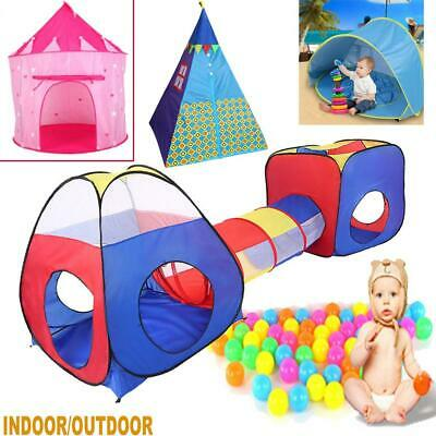 Kids Children Indoor Outdoors Play Castle Tent Ball Pit Playhouse Party Gift UK