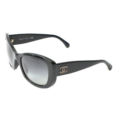 6c9986842e Authentic Chanel Coco Mark Sunglasses Eye Wear Black Plastic Silver Italy
