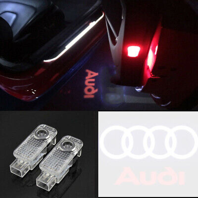 4X CREE LED Lamp Laser Projector Logo For AUDI Door Courtesy Puddle Shadow Light