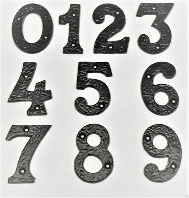 Thick Black Wrought Cast Iron Antique Door Numbers 3 x 1/4 Inch (77 x 6mm) Ho...