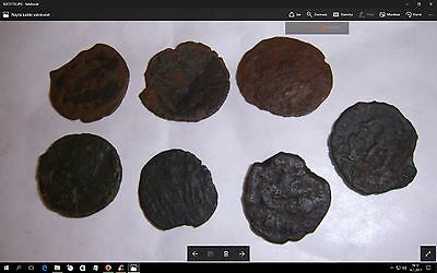 roman ancient bronze coins to identify roman empire 100 - 400 AD genuine lot