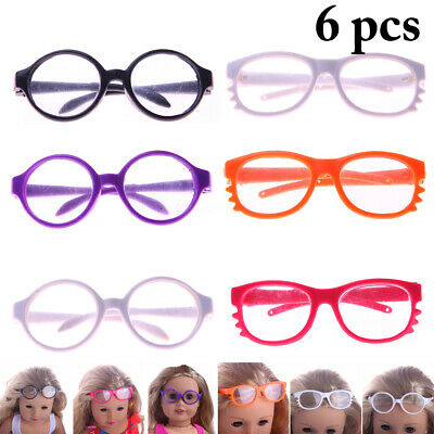 6 Pairs Doll Glasses Creative Baby Doll Glasses Doll Accessories for 18in Dolls