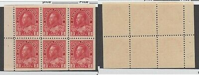 MNH Canada 2c KGV Admiral Booklet Pane #106a (Lot #14938)