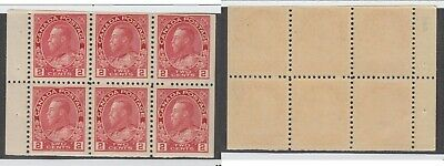 MNH Canada 2c KGV Admiral Booklet Pane #106a (Lot #14942)