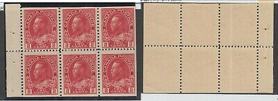MNH Canada 2c KGV Admiral Booklet Pane #106a (Lot #14937)