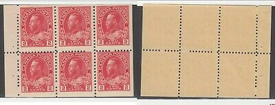MNH Canada 2c KGV Admiral Booklet Pane #106a (Lot #14944)