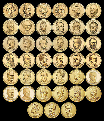 """COMPLETE Presidential Dollar Set """"Brilliant Uncirculated"""" US (39 Coins Total) $"""