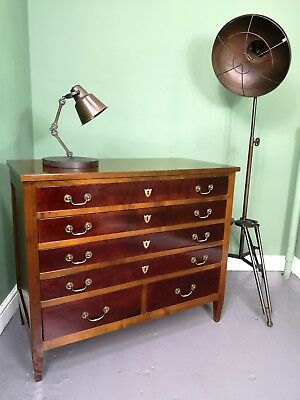 An Antique Style Mahogany Cherry Wood Chest of Drawers ~Delivery Available~
