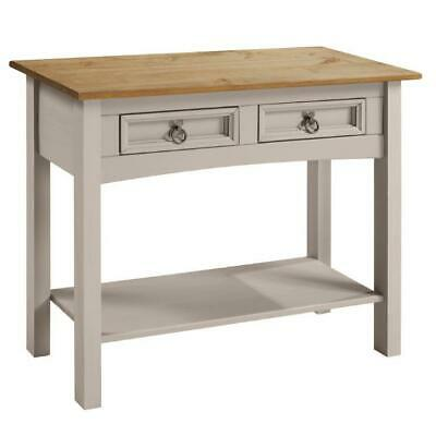Corona Grey Wax 2 Drawer Console Table by Mercers Furniture®