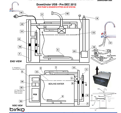 Genuine Birko  DownUnder USB 2.5, 5 & 10L p/n 1310725 2400w