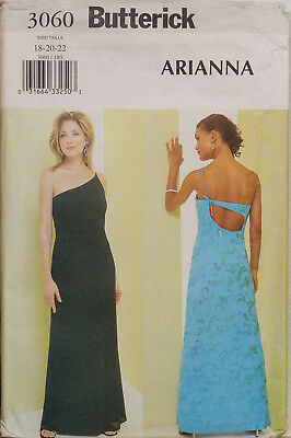 Butterick Sewing Pattern 3060 Evening Dress Strappy Gown Size 18-22 EASY UNCUT