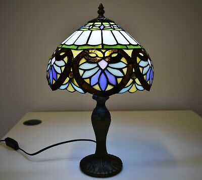 Antique Style New TIFFANY Table Lamp Bed/Living Room Multi Colour Hand Crafted