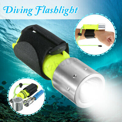 10000LM T6 LED Rechargeable Scuba Diving Flashlight Torch Battery Underwater