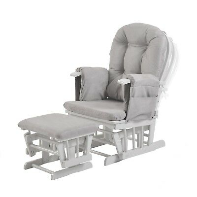 Haywood Reclining Nursing Glider and Footstool (Grey) [Grade A, New] 30% Off