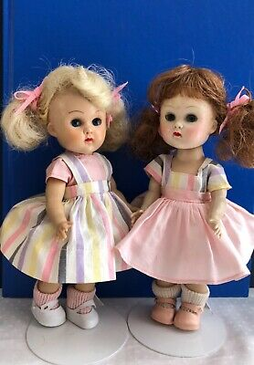 Twin SLW  Molded Lash Ginny Dolls with matching Tagged Dresses