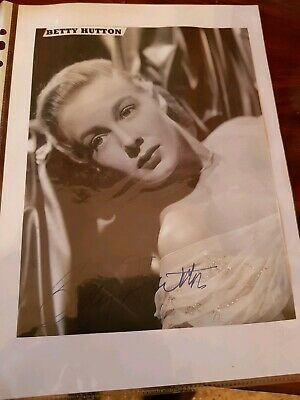 Betty Hutton Autografo Originale