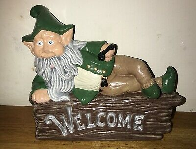 Latex Mould for making this Leprechaun Welcome plaque