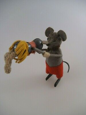 Schuco Tanzfigur Maus mit Kind Made in US Zone (2675)