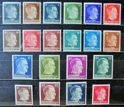 GERMAN REICH 1941 Occupation of Russia, Hitler Complete Set of 20 MNH