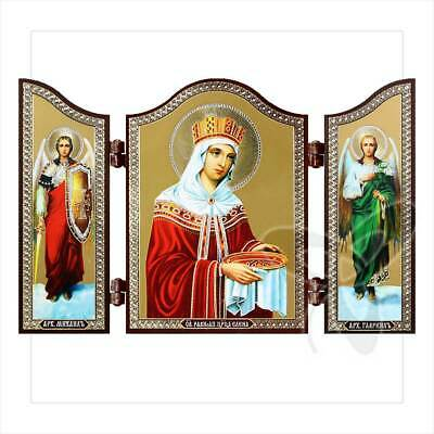 1440 St. Helena Christian icon Triptych    travel altar