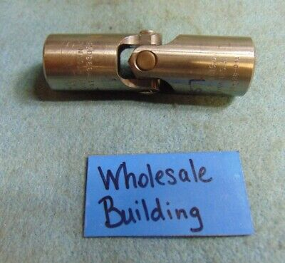 """Alves Hb-1000-128-01A Hex Block Universal Joint, 1/2"""" Bore, 1"""" Od"""