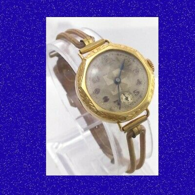 Vintage  & Retro Elegant 14k Swiss Art Deco Ladies Cocktail  Wrist Watch 1930