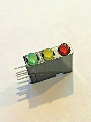 5pcs RARE TRAFFIC LIGHT STYLE LED Bar, RED YELLOW GREEN HO TRAINS MODEL DIY!