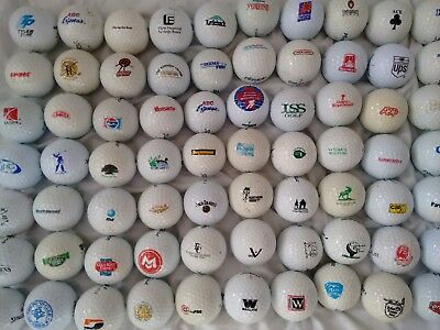 Grab Bag of 15 Logo Golf Ball Used Balls For Play or Crafts