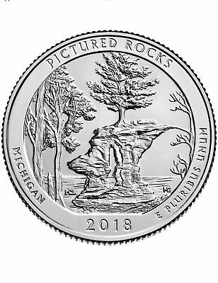 2018-P Pictured Rocks Uncirculated Michigan National Park Quarter