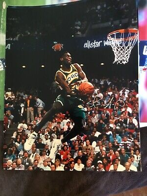 79eec433ee54a SHAWN KEMP AUTOGRAPHED Seattle Supersonics 16x20 Photo 'REIGN MAN ...