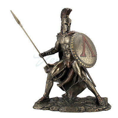 2pcs Leonidas King of Sparta Warrior Statue Sculpture Figurine Ship Immediately
