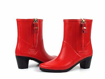 fb1f15dc562b Kate Spade New York Penny Red Shiny Rubber Short Ankle Rain Boot NEW Size 10