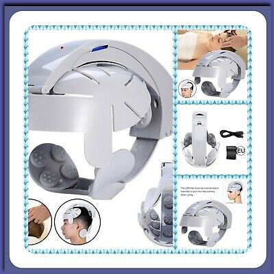 Electric Head Massager Device Stress Relief Brain Acupuncture Point Vibration
