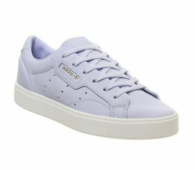 WOMENS ADIDAS SLEEK Trainers Periwinkle Crystal White Trainers Shoes
