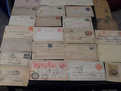 Lot of 28 Early World Wide Postal Cards - Great Variety!